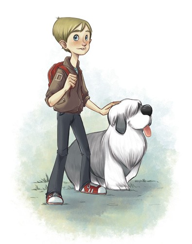 Xavier Bonet Illustration - xavier, bonet, xavier bonet, commercial, fiction, mass market, young reader, picture book, novelty, painted, traditional, digital, photoshop, illustrator, people, person, males, boys, men, man,  animals, pets, pals, buddies, dogs, puppies, puppy,