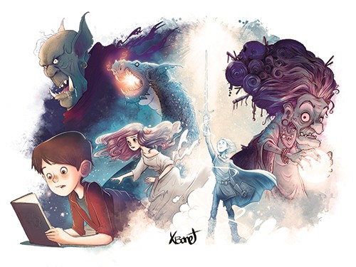 Xavier Bonet Illustration - xavier bonet, xavier, bonet, commercial, fiction, mass market, young reader, picture book, novelty, digital, photoshop, illustrator, fantasy, magical, character,