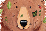 Lucy Boden Illustration - ucy, boden, lucy boden, novelty, mass market, commercial, acrylic, painted, picture book, fiction, animals, pets, wildlife, bear, detail, leaves, nature, bugs, insects, lady bird, woods, forest