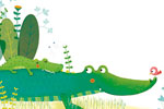 Marta Cabrol Illustration - marta cabrol, marta, cabrol, painted, digital, novelty, picture book, commercial, educational, sweet, young, fiction, acrylic, trade, young reader, YA, colour, colourful, animal, crocodile, cute, mummy, mum, baby, bird, sleeping, plants, leaves, grass