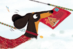 Marisa Morea Illustration - marisa, morea, marisa morea, trade, picture books, greetings cards, editorial, fiction, advertising, stationary, painted, digital, photoshop, illustrator, sausage dogs, snow, animals, dogs, christmas, festive, seasonal, cute, sweet