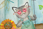 Melissa Shultz-Jones Illustration - melissa, shultz-jones, melissa shultz-jones, traditional, paint, painted, watercolour, greetings cards, mass market, commercial, folk, picture book, stationary, cute, sweet, young, animals, gardening, cats, sun, flowers, watering, spring, summer,