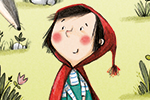Olivia Beckman Illustration - olivia, beckman, olivia beckman, marta, fernandez, marta fernandez, trade,fiction, editorial, picture book, greetings cards, cute, sweet, young, painted, digital, photoshop, traditional, textured, red riding hood, girl, flowers, woods, forest, wolf, detai