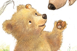 Petra Brown Illustration - petra, brown, petra brown, watercolour, paint, painted, commercial, traditional, trade, picture book, picture book, cute, sweet, young, bears, mum, child, parent, mother, autumn, conkers, tree, leaves,