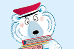 Paula Bowles Illustration - paula, bowles, paula bowles, digital, illustrator, photoshop, YA, young reader, picture book, fiction, polar bear, bear, postman, letters, humorous, box, colour, colourful