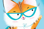 Paula Bowles Illustration - paula, bowles, paula bowles, digital, illustrator, photoshop, cute, sweet, YA, young reader, commercial, picture book, fiction, coloured pencil, sketchy, animals, superhero, cat, kitten, superkitty, hero, mask, cape