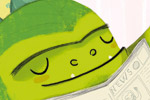 Purificacion  Hernandez  Illustration - Purificacion, hernandez, purificacion hernandez, commercial, trade, fiction, greetings cards, cute, sweet, young, picture books, activity, stationary, digital, photoshop, illustrator, painted, monsters, dinosaurs, dragons, beast, green,  mums, mummy, mummies, mom, dads, daddy, daddies, mothers, fathers, man, men, males, females, women, woman, families, family, child, children, bathrooms, kids, sinks, singing, baths, washing, scrubbing, reading, dancing, fishes, fish bowls, water, watering cans, mirrors, wet
