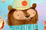Purificacion  Hernandez  Illustration - Purificacion, hernandez, purificacion hernandez, commercial, trade, fiction, greetings cards, cute, sweet, young, picture books, activity, stationary, digital, photoshop, illustrator, painted,tiger, bear, pig, friends, animals, snow, christmas, merry, festive, snow, tree, branch, bird, baubles, scarves, scarf, hat, gloves, coat,
