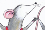 Peter Wilks Illustration - peter, wilks, peter wilks, paint, painted, watercolour, water colour, traditional, commercial, educational, picture book, picturebook, fiction, acrylic, colour, colourful, YA, young reader, animals, mice, mouse, dancers, dancing,dresses, ballerina, cute,
