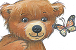 Peter Wilks Illustration - peter, wilks, peter wilks, paint, painted, watercolour, water colour, traditional, commercial, educational, picture book, picturebook, fiction, acrylic, colour, colourful, YA, young reader, animals, bear cub, bear, cub