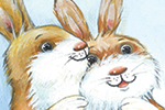 Peter Wilks Illustration - peter, wilks, peter wilks, paint, painted, watercolour, water colour, traditional, commercial, educational, picture book, picturebook, fiction, acrylic, colour, colourful, YA, young reader, animals, rabbit, bunny