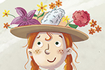 Sara Mateos Illustration - sara, mateos, sara mateos, illustrator, digital, photoshop, YA, young reader, colour, colourful, bright, girl, figure, person, fiction, classics, anne, dress, green, books, flowers, hat, smile, happy, plaits,