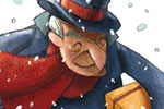 Simona Sanfilippo Illustration - simona, sanfilippo, simona sanfilippo, commercial, picture book, fiction, educational, digital, paint, painted, acrylic, people, scrooge, christmas carol, men, man, grandfather, grandpa, men, man, children, boys, christmas