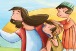 Simona Sanfilippo Illustration - simona, sanfilippo, simona sanfilippo, commercial, picture book, fiction, educational, digital, painterly, photoshop, illustrator, young reader, YA, bible, bible stories, people, person, jesus