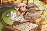 Simona Sanfilippo Illustration - simona, sanfilippo, simona sanfilippo, commercial, picture book, fiction, educational, digital, painterly, photoshop, illustrator, young reader, YA, construction, bible, old testament, bible stories, man, person, figure, character, colour, colourful
