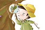 Simona Sanfilippo Illustration - simona sanfilippo, commercial, picture book, fiction, educational, digital, painted, photoshop, illustrator, character, colour, colourful, character, bot, adventure, explore, travel, explorer, tree, nature, birds, learning, magnifying glass, spyglass,