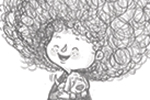 Tim Budgen Illustration - tim, budgen, tim budgen, illustration, picture book, YA, young reader, trade, character, illustrator, photoshop, cute, sweet, girl, child, black and white, b &w, drawing