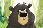 Tim Budgen Illustration - tim, budgen, tim budgen, illustration, picture book, YA, young reader, trade, character, colourful, illustrator, funny, photoshop, cute, bear, woods, jungle, animal, animals,