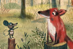 Tanja Stephani Illustration - tanja, stephani, tanja stephani, trade, commercial, picture book, painted, hand drawn, traditional, pencil, texture, colour, colourful, animals, woods, forest, woodland creatures, creatures, fox, mouse, crow, birds, dog, nature,