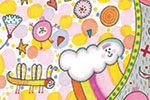 Valeria Valenza Illustration - valeria, valenza, valeria valenza, painted, traditional, digital, decorative, trade, sophisticated, picture book, colours, colourful, vector, quirky, kitsch, pattern, clouds, summer, weather, seasonal, hearts, shapes, drawings, kids, colouring, magical, f
